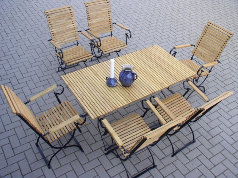 meble ogrodowe Iter, stół ogrodowy, krzesła